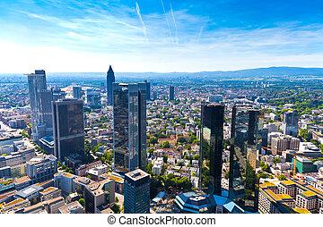 Frankfurt am Main, Germany - Aerial view of Frankfurt am...