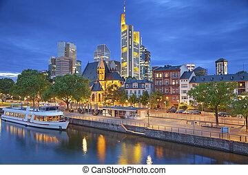 Frankfurt am Main. - Image of Frankfurt am Main skyline...