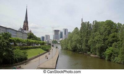Frankfurt am main, June in good weather.