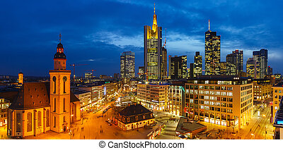 Frankfurt at night - Frankfurt am Main at night, Germany