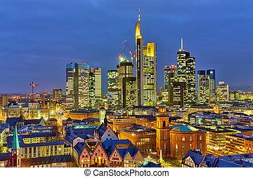 Frankfurt at night - Frankfurt am Main at night, Germany