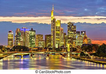 Frankfurt at night - Frankfurt am Mine at night, Germany