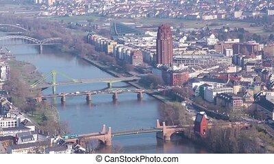 Frankfurt City and Main River Time