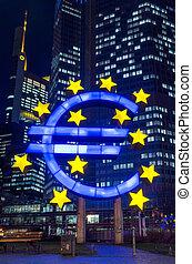 Euro Sign. European Central Bank (ECB)