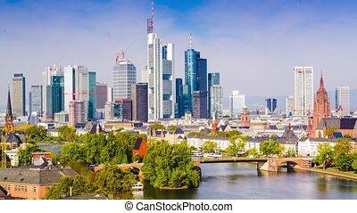 Frankfurt Germany time lapse.