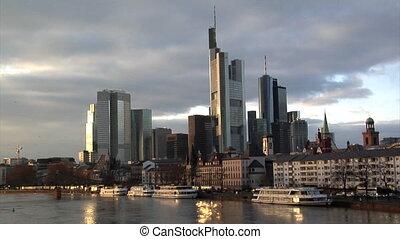 Frankfurt Germany Skyline birds cro