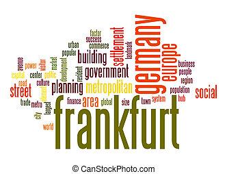 frankfurt, palavra, nuvem