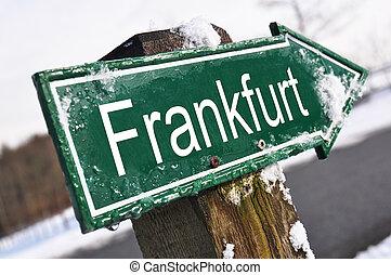 FRANKFURT road sign