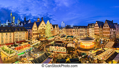 frankfurt, weihnachtsmarkt, kiem