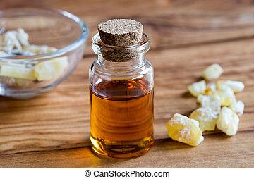 frankincense, オイル, びん, 樹脂, 必要