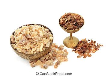 frankincense, ミルラ樹脂