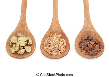 frankincense, ミルラ樹脂, 金