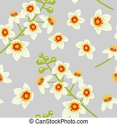 Frankincense flower seamless pattern vector. Boswellia tree...
