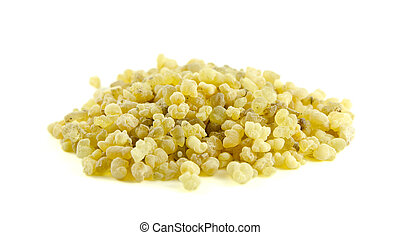 Frankincense isolated on a white background/part of frankincense series