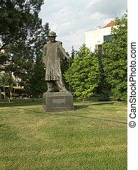 Frankl B.Hymnz statue in downton park Belgrade Serbia