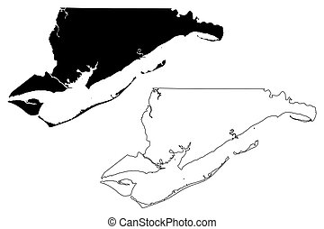 Franklin County, Florida (U.S. county, United States of America, USA, U.S., US) map vector illustration, scribble sketch Franklin map