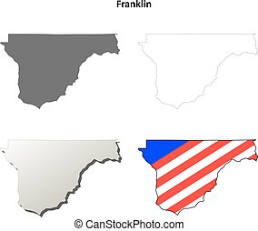 Franklin County, Washington outline map set