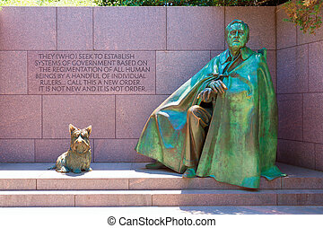 franklin delano roosevelt, memorial, washington
