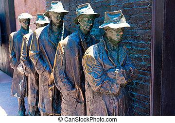 franklindelanoroosevelt, 기념물, 에서, 워싱톤