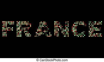 frankreich, leuchtdiode, text