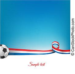 frankrijk, achtergrond, met, voetbal