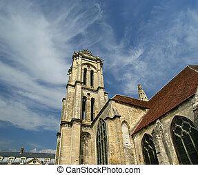 frankrijk, senlis, picardy, oise---, heilige vincent, abdij,...