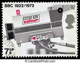 franqueo, 50th, bbc, gran bretaña, aniversario, sellos