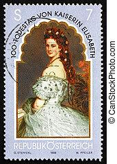 franqueo, elizabeth, estampilla, 1998, emperatriz, austria