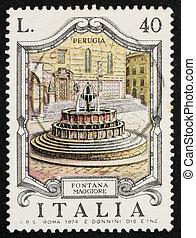 franqueo, italia, perugia, 1974, maggiore, estampilla, ...