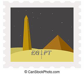 franqueo, obelisco, noche