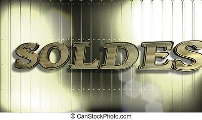 franse , verkoop, goud, 3d, tekst, looping, animatie