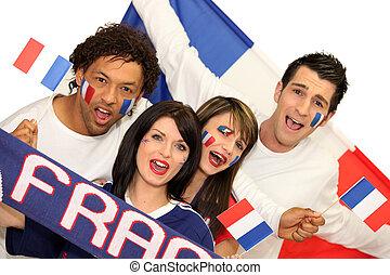 franse , voetbal, aanhang