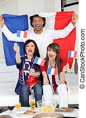 franse , voetbal, ventilatoren