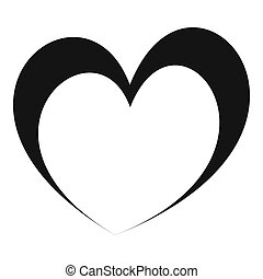 Frantic heart icon. Simple illustration offrantic heart icon for web.