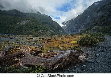 franz josef glacier south island new zealand