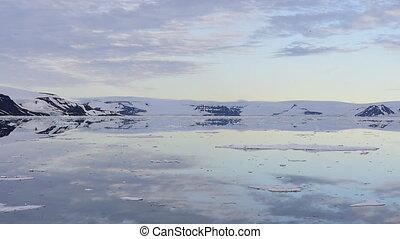 Franz-Josef Land landscape travel on icebreaker