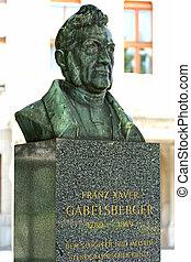 franz, xaver, gabelsberger, monument