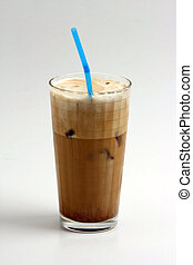 frape - a glass of nice greek way ice coffee frape with milk