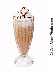 frappe coffee .Isolated on White Background