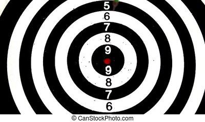 frapper, vert, bullseye, dard
