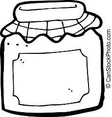 frasco atolamento, caricatura