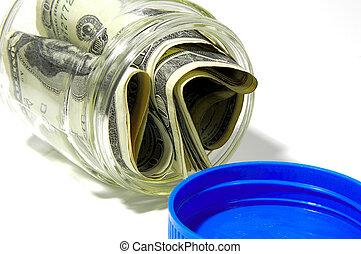 frasco dinero
