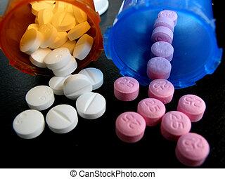 frascos, píldoras