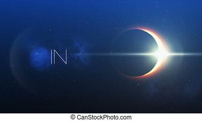 frase, acreditar, em, você mesmo, e, eclipse solar