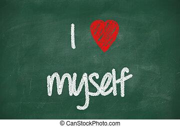 frase, myself, amor
