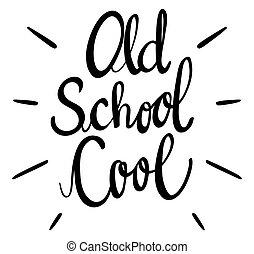 frase, school, koel, oud, engelse