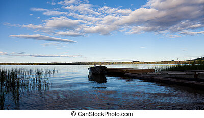 Fraser Lake, along the Yellowhead Highway (Highway 16) east...