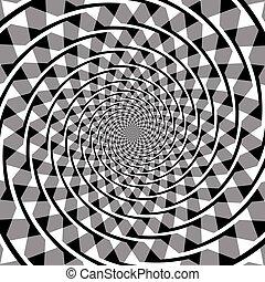 fraser, optisch, spiraal, illusie