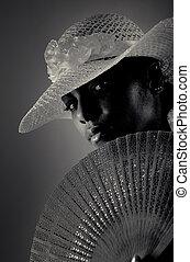 frau, afrikanisch, mode
