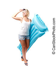 frau, airbed